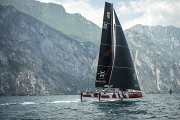 Successful opening day for Team Tilt at GC32 Riva Cup on Lake Garda