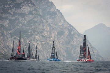Switzerland's Team Tilt in second place by a point on day two of GC32 Riva Cup
