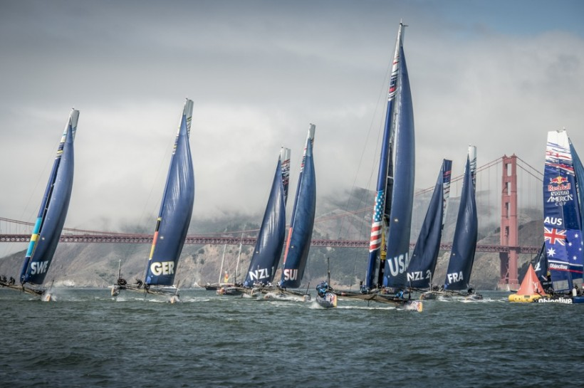 Team Tilt instable dans la Red Bull Youth America's Cup