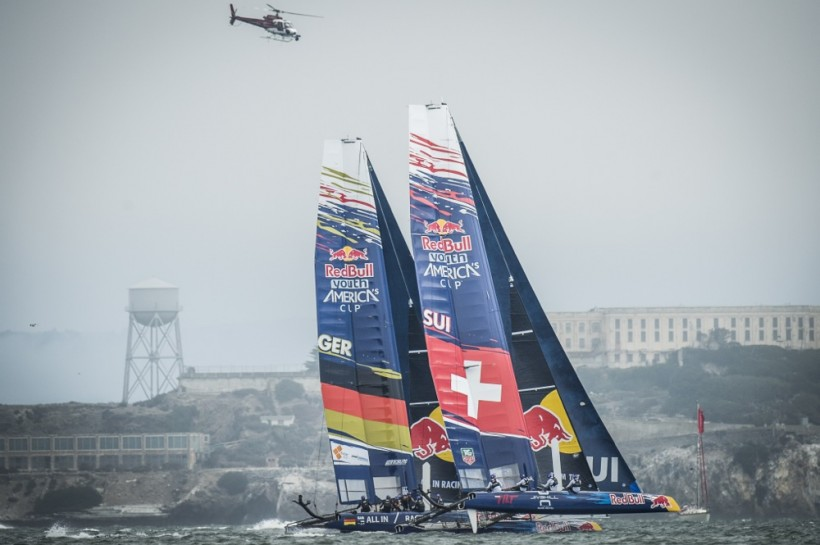 Challenging opening day of Red Bull Youth America's Cup for Team Tilt