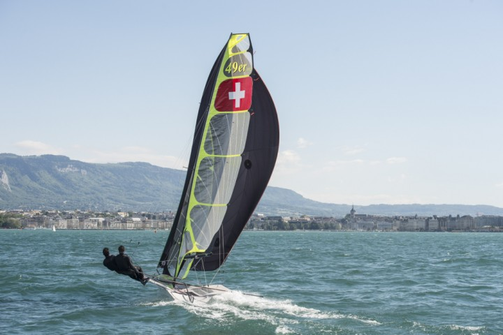 49er training Lac Leman