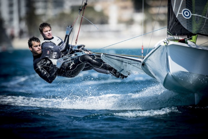 Training in a nice breeze in Palma