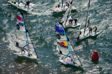 Sébastien and Lucien, eighth of the European championships silver fleet