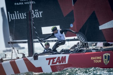 Two victories for Team Tilt at GC32 Riva Cup despite losing a foil to the bottom of the lake