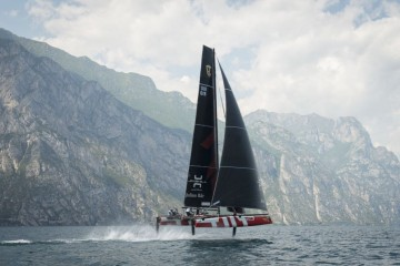 Team Tilt leads the GC32 Racing Tour in Malcesine on day 2