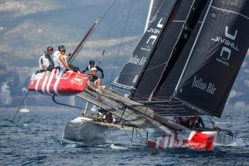 Team Tilt, troisième de la Copa del Rey en catamaran GC 32 à Palma