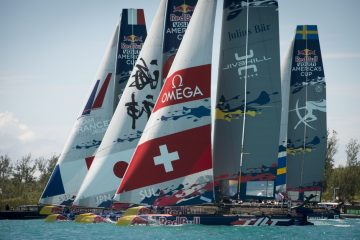 A challenging start in light airs for Team Tilt at the Red Bull Youth America's Cup