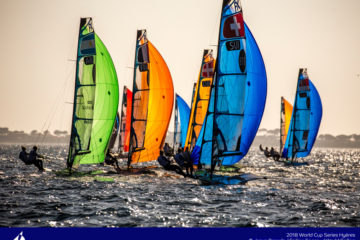 Tough conditions in Hyeres for the World Cup